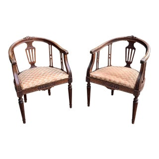 Antique French Louis XVI Armchairs - a Pair For Sale