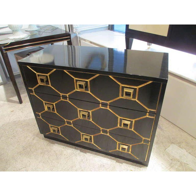 Mid-Century Modern Custom Pair of Dorothy Draper Style Lacquered Commodes For Sale - Image 3 of 7