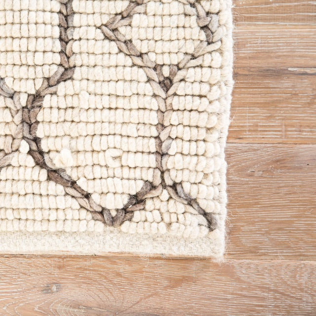 Contemporary Nikki Chu by Jaipur Living Leda Natural Trellis White & Gray Area Rug - 8' X 10' For Sale - Image 3 of 6