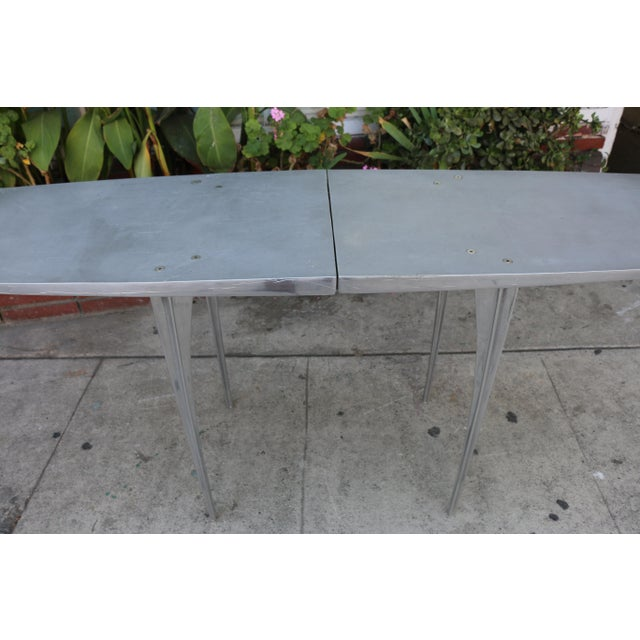 Robert Josten Aluminum Robert Josten Console Table For Sale - Image 4 of 11