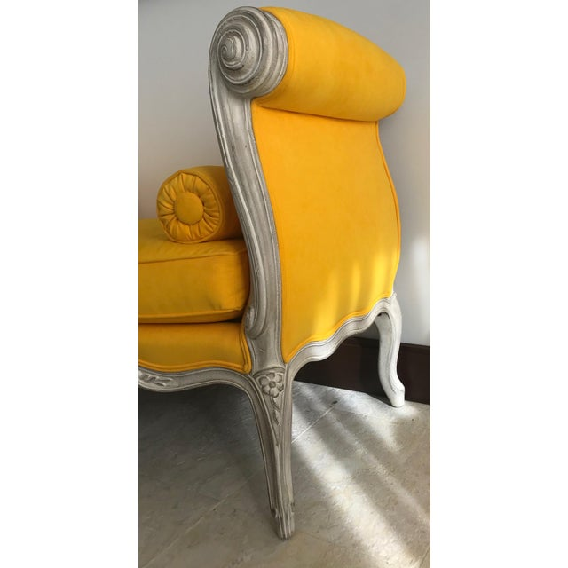 Wood 1900s Canary Yellow French Settee For Sale - Image 7 of 13