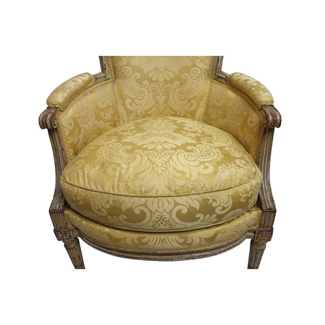 Late 19th Century Louis XVI Style Bergere Chair, French, Late 19th-Early 20th Century For Sale - Image 5 of 8