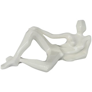 Mid-Century Modern Jaru Modernist Ceramic Reclining Figure, Dated 1976 For Sale