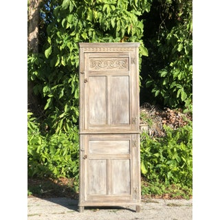 Early 20th Century Bleached English Oak Corner Cabinet Preview