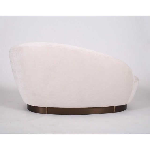 Mid-Century Modern Vladimir Kagan Mini Chaise Sofa For Sale - Image 3 of 7