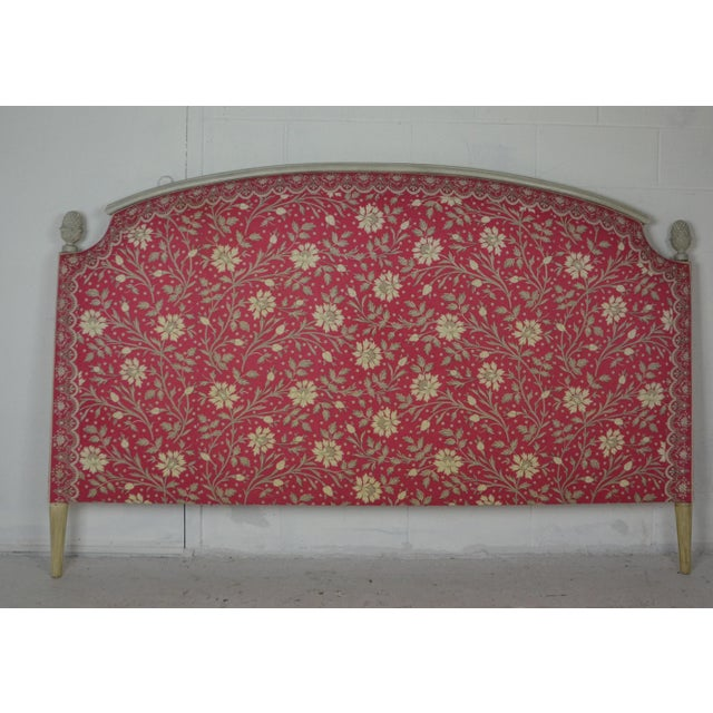 Wood Louis XVI King Size Bed Headboard For Sale - Image 7 of 7