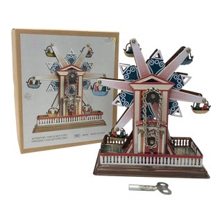 Wind Up Ferris Wheel Collectible Tin Toy For Sale