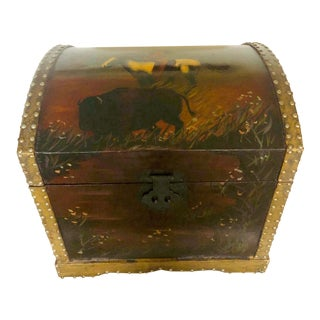 1940s Early American One of a Kind Trunk For Sale
