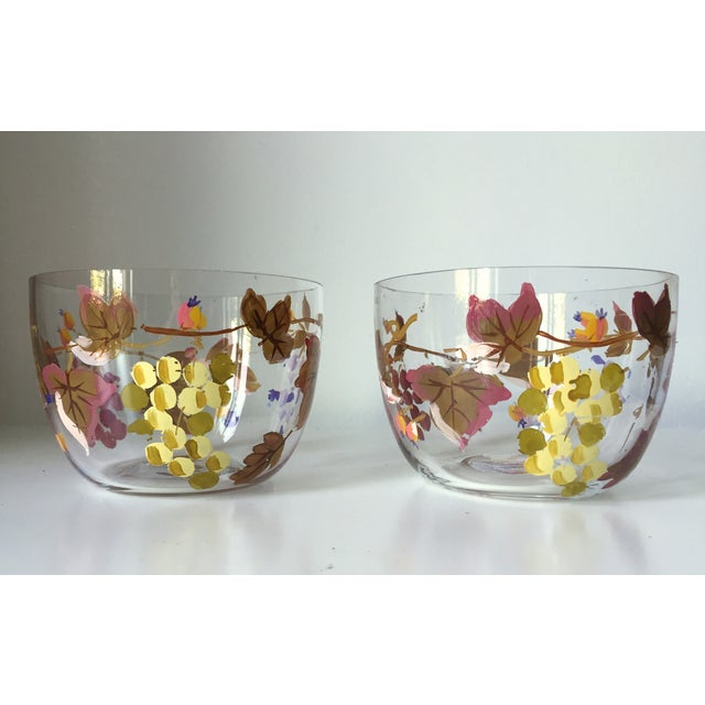 Vintage Grape Vine Crystal Bowls - A Pair - Image 2 of 5