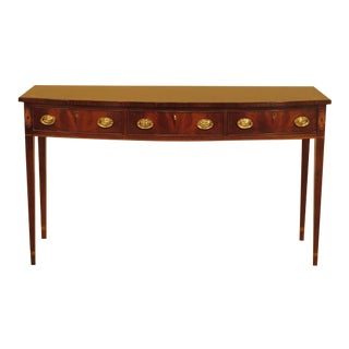 Hickory Chair Co. Inlaid Mahogany Console Table Server
