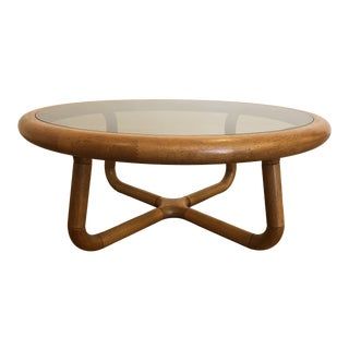 Uldum Mobelfabrik Teak & Glass Coffee Table For Sale