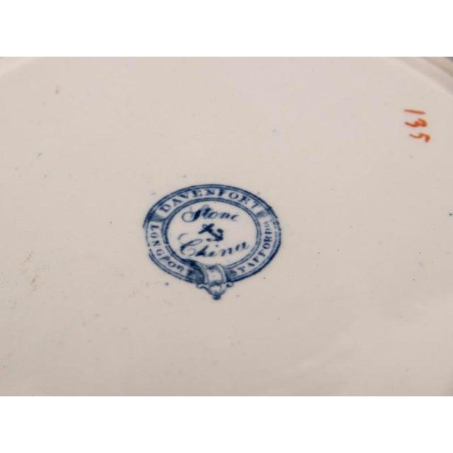 Ceramic Set Four Davenport China Dinner Plates, England c. 1840 For Sale - Image 7 of 7