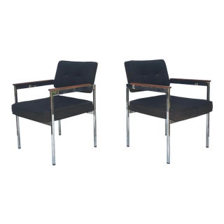 Mid-Century Modern Armchairs by Shaw Walker For Sale