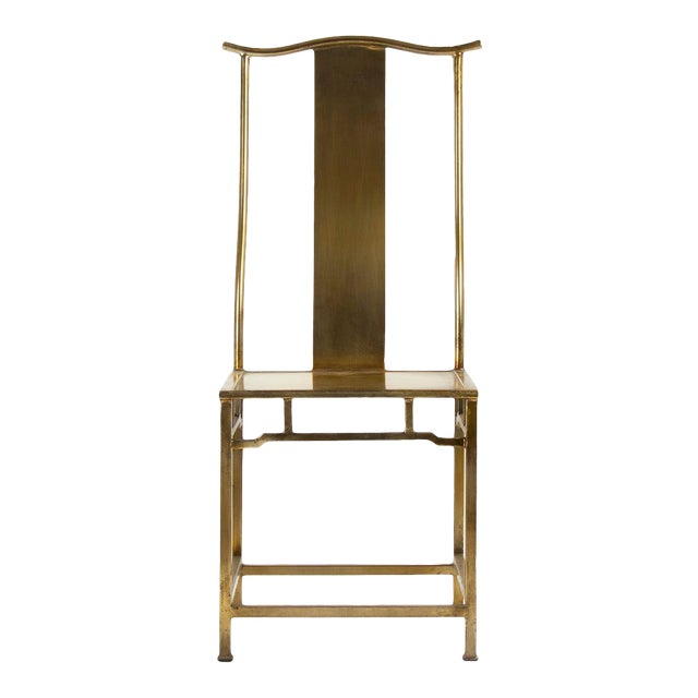 Goerge Side Chair in Gold For Sale