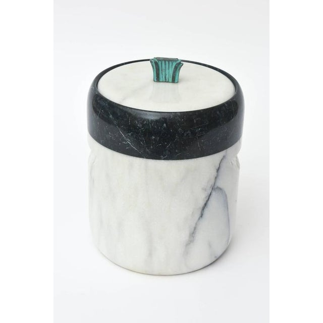 Georges Briard Mid-Century Georges Briard Marble and Bronze Ice Bucket For Sale - Image 4 of 10