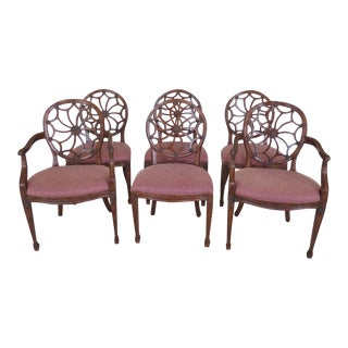 Casa Stradivari Web Back Dining Room Chairs - Set of 6 For Sale