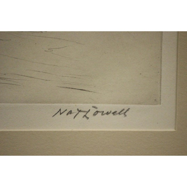 1940s Four Polo Players Etching by Nat Lowell (1880-1956) For Sale - Image 5 of 8