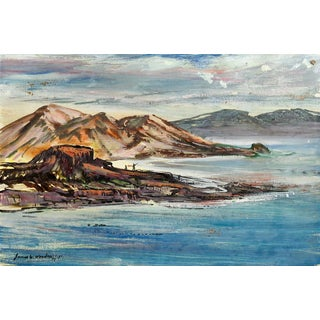 Remote Coastal Seascape Painting For Sale