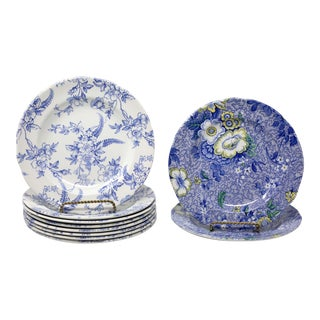 Spode Penny Lane Honeywall Chintz Floral Salad Plates - Set of 10 For Sale