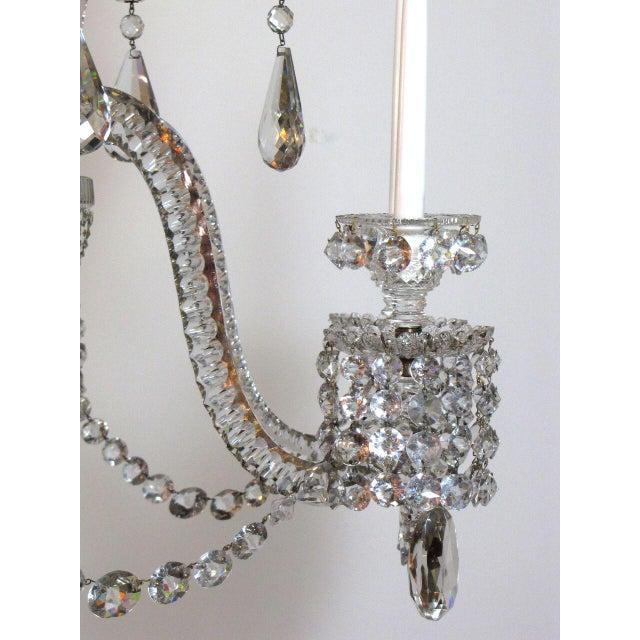 Six Light Large Crystal Chandelier For Sale - Image 4 of 8