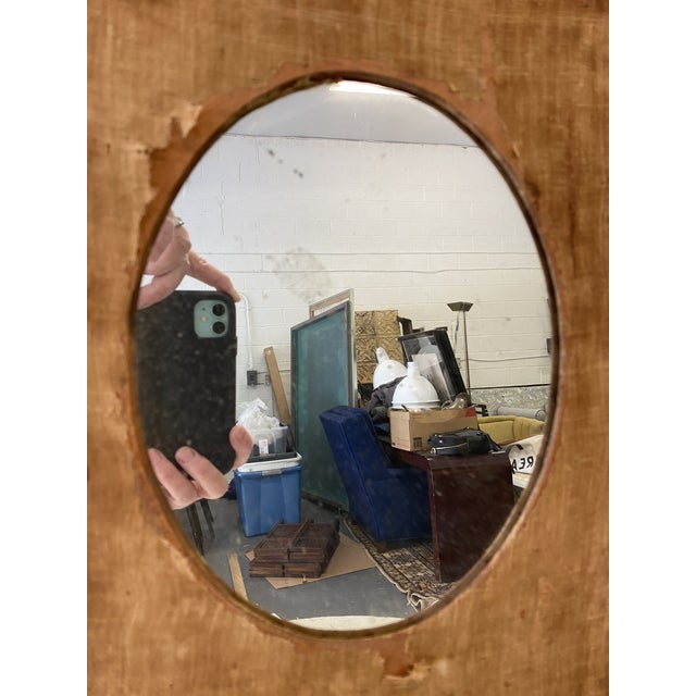Early 20th Century Early 20th Century Antique Mirror on Fabric For Sale - Image 5 of 7