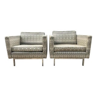 Mid-Century Modern Myrtle Desk Knoll Style Lounge Chairs - a Pair For Sale