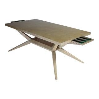 Harold Schwartz for Romweber Bleached Oak M-748 Dining Table For Sale