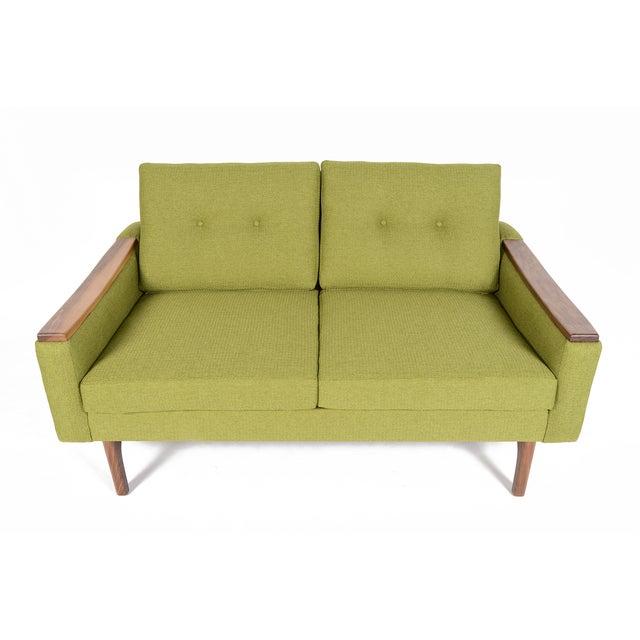 """Mid-Century Style """"Piedmont"""" Sofa in Avocado - Image 4 of 10"""