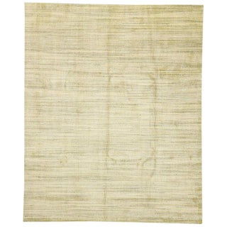 Earth-Tone Transitional Neutral Area Rug - 7′9″ × 9′11″ For Sale