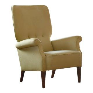 Fritz Hansen 1950s Highback Lounge Chair Danish Midcentury For Sale