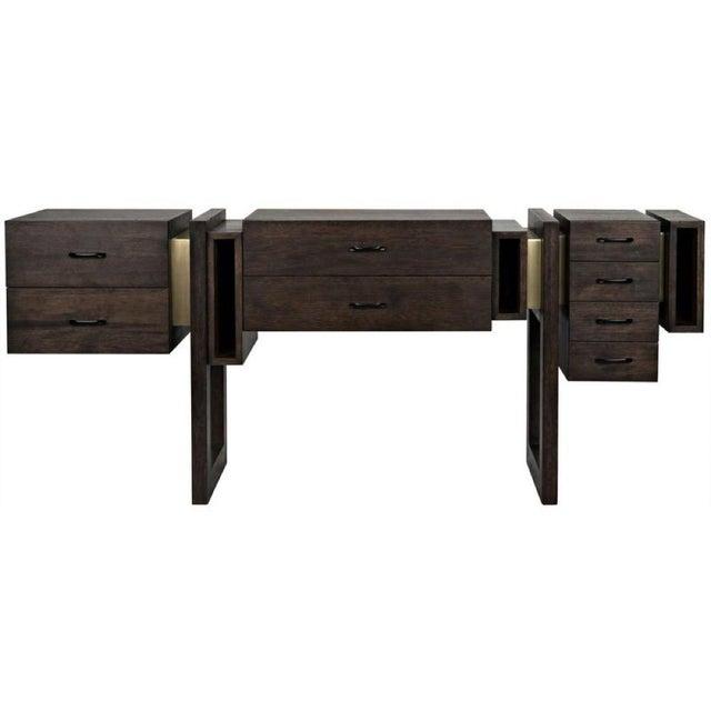 sideboard, ebony walnut sideboard, walnut sideboard, noir ebony walnut, noir sideboards
