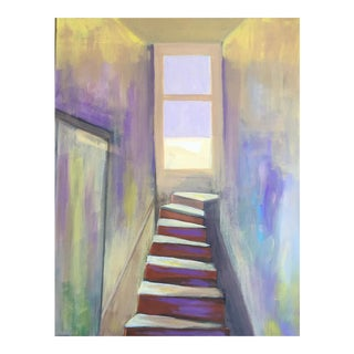"""Modern """"Stairway to Somewhere"""" Painting For Sale"""