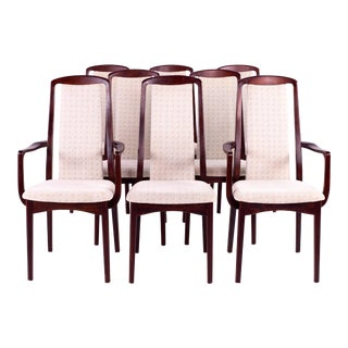 Mid Century Breox Mobler Snickerinytt Rosewood Dining Chairs - Set of 8 For Sale