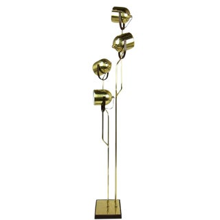 4-Arm Brass Floor Lamp by Reggiani For Sale