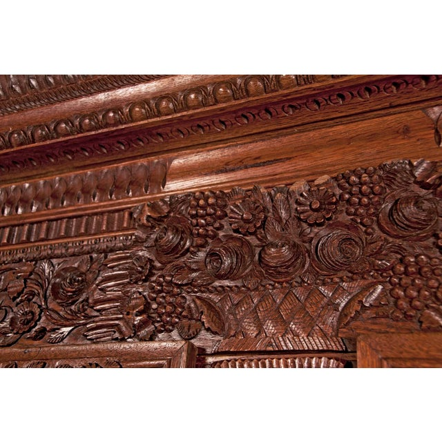 Early 19th Century French Carved Floral Motif Marriage Armoire For Sale In San Francisco - Image 6 of 7