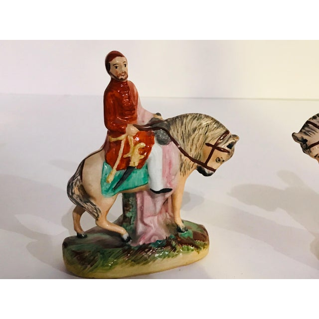 English Antique Staffordshire Figurines on Horseback - a Pair For Sale - Image 3 of 8