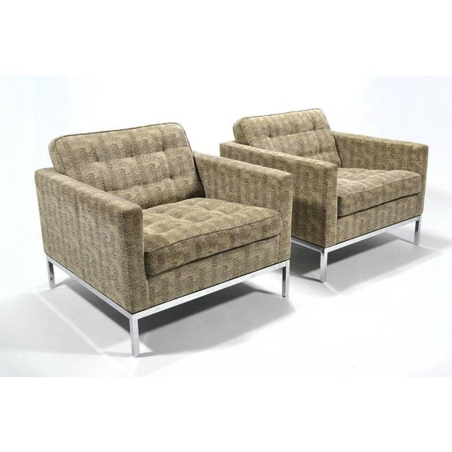 Florence Knoll Tuxedo Lounge Chair, Pair - Image 3 of 8