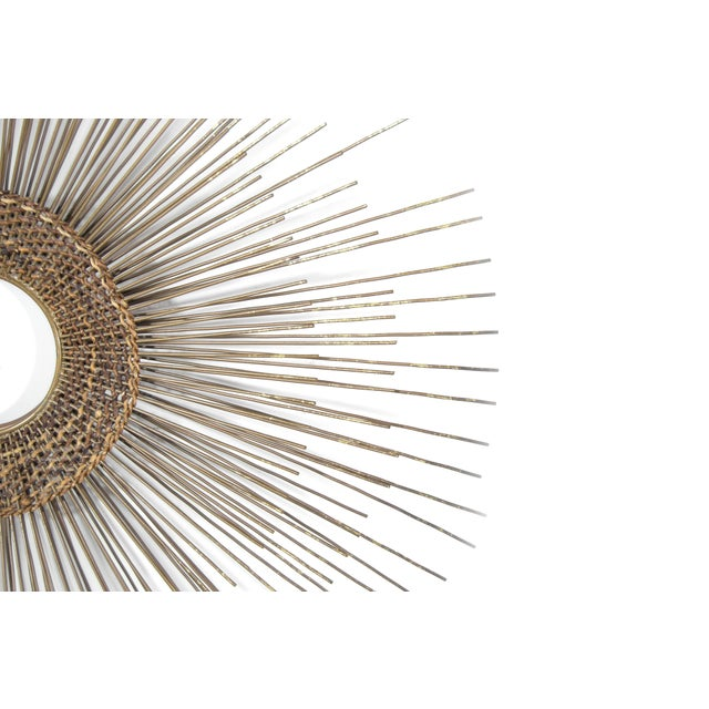 Mid 20th Century 1950s Woven Sunburst Wall Sculpture For Sale - Image 5 of 9