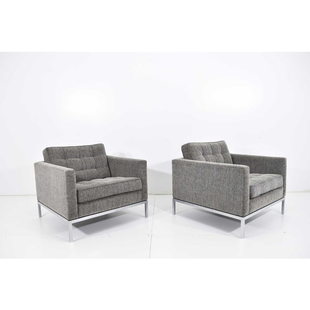 Contemporary 1960s Florence Knoll Chairs - a Pair For Sale - Image 3 of 13