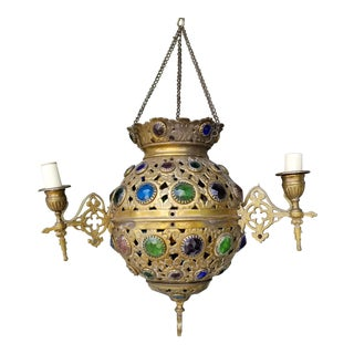 19th Century Moroccan Bejewled Chandelier For Sale