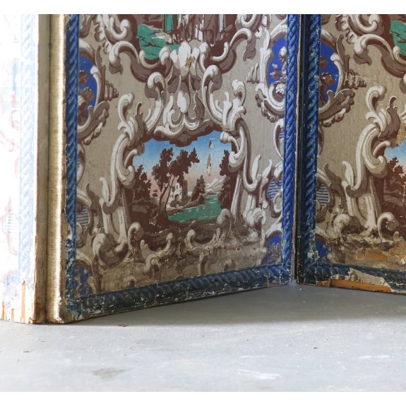 French Late 19th C. French Wallpaper Screens For Sale - Image 3 of 6