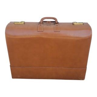 Vintage Mendel Brown Leather Suitcase For Sale