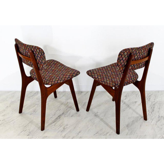 Mid 20th Century Mid-Century Modern Arne Hovmand Olsen Danish Teak Dining Chairs - Set of 6 For Sale - Image 5 of 10
