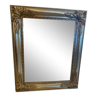 Italian Silver Giltwood Mirror With Calla Lily Decoration For Sale
