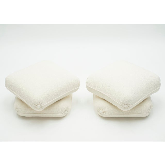 Pair of Ottomans Poufs by Jancques Charpentier for Maison Jansen 1970s For Sale - Image 6 of 10