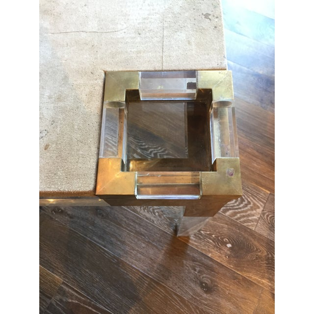 Contemporary Vintage Lucite Game Table For Sale - Image 3 of 5