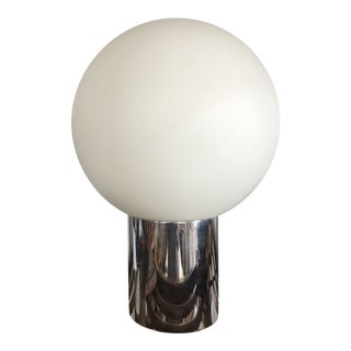 Mid-Century Globe Chrome Table Lamp - Robert Sonneman for George Kovacs For Sale