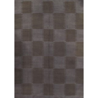"Pasargad Ny Scandinavian Brown Wool Rug - 7′4″ X 10′1"" For Sale"