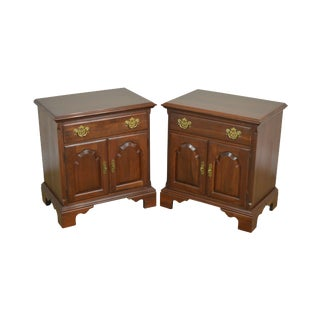 Knob Creek Solid Cherry Pair Nightstands For Sale