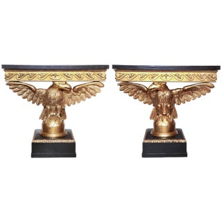 Pair of George II Carved Eagle Consoles For Sale